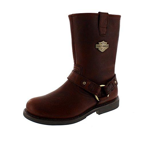 brown EUR dark DAVIDSON HARLEY Size JOSH Shoes Boots 41 Biker pvCPPYwq8