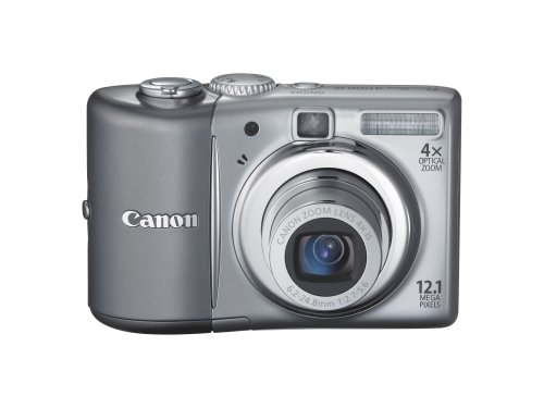 Canon PowerShot A1100IS 12.1 MP Digital Camera with 4x Optical Image Stabilized Zoom and 2.5-inch LCD (Silver) (OLD MODEL) (12.1 Mp Digital Camera)
