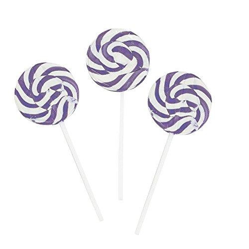 Purple Swirl Pops - Lollipop Suckers (2 -