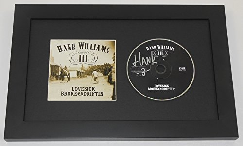 Hank Williams III Lovesick, Broke & Driftin' Signed Autographed Music Cd Compact Disc Framed Display Loa