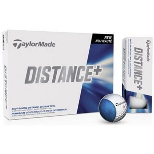 NEW TaylorMade Distance PLUS 12 Golf Balls WHITE New Mid / High Handicap GOLFER