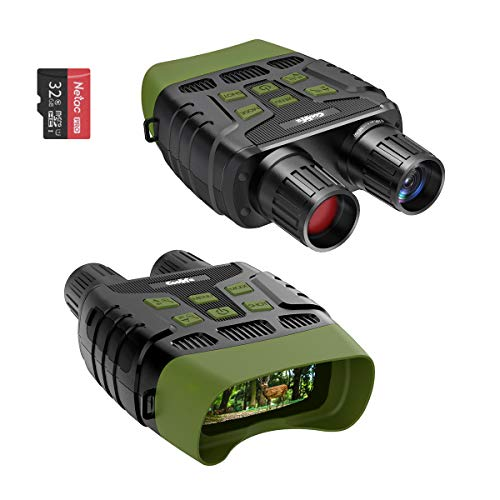 Coolife Night Vision Goggles Binoculars Night Vision Monocular, Long Distance Infrared for Day and Night, HD 1280x960P Video and Photo with 32GB Card, TFT LCD for Spotting, Hunting, Surveillance