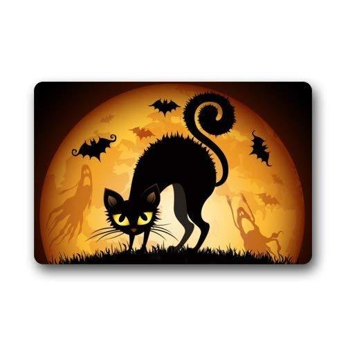 W.Morgan. Welcome to Join us/Halloween Party/Funny Halloween Doormat/Decorations Durable Machine-Washable Indoor/Outdoor Door Mat 40cm X 60cm X 1cm -