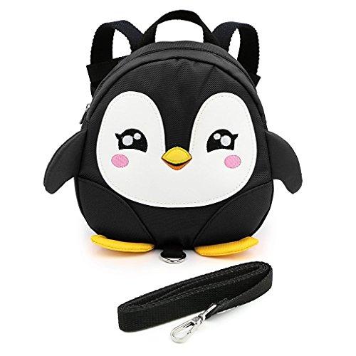 LANSHULAN Baby Toddler Mini Safety Anti-lost Backpack with Safety Leash(Black) by LANSHULAN
