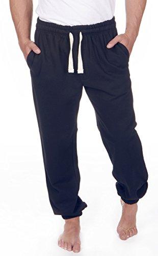Red Tag Mens Plus Size Fleece Joggers Sweat Pants Size 3XL-6XL - Navy - 4XL