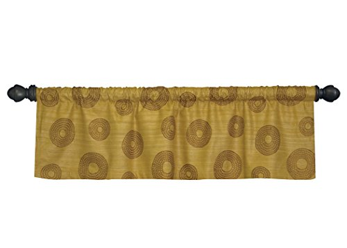 Heritage Lace Amber Gold Serenity Valance, 52