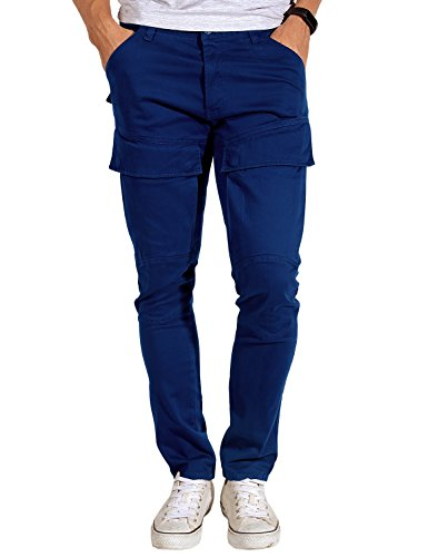 - Match Mens Straight Fit Biker Cargo Pants (34, 6051 Washed Blue)