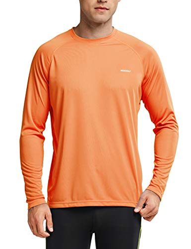 MOCOLY Men's UPF 50+ Sun Protection Hoodie Long Sleeve Outdoor Running Performance T-Shirt with Thumbholes