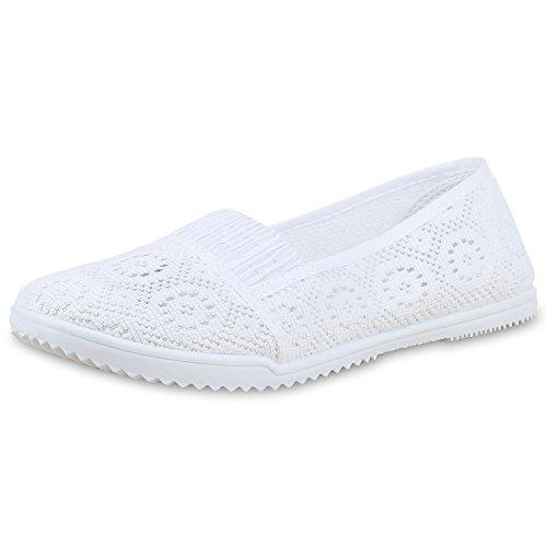 napoli-fashion - Mocasines Mujer Weiß