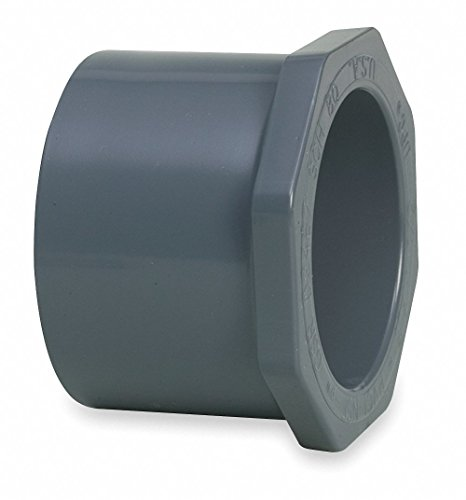 """GF Piping Systems Schedule 80 CPVC Reducer Bushing, 3"""" x 2"""" Pipe Size, Spigot x Socket Fitting Connection Type"""