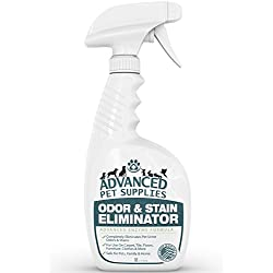 Advanced Pet Supplies Odor and Stain Eliminator - Cleans Accidents in a Hurry Without Dangerous Ingredients That Can Make Pets Sick - Bio-Enzyme Cat and Dog Urine Pee Smell Remover Carpet Cleaner