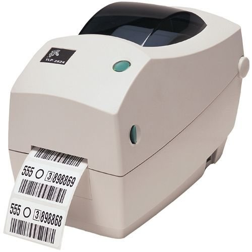 ZEBRA- TLP2824 Plus Thermal Transfer Desktop Printer for Labels, Receipts, Barcodes, Tags, and Wrist Bands - Print Width of 2 in - Serial and USB Port Connectivity