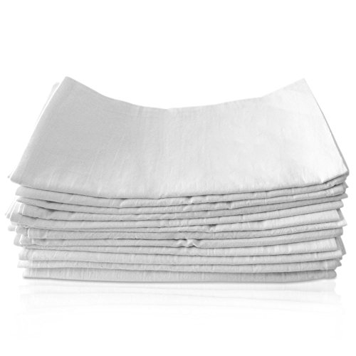 """Kitchen Towels-Dish-Cloth Napkins-Flour Sack-13 Pack -27""""x27"""" -Square-100%Cotton-White-Absorbent-Hanging loop-For Table Setting-Cleaning-Wiping-Baking-Dyeing-Embroidery-Cloth Diapers - Vintage Flour Sack"""
