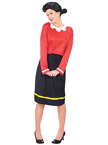 FunWorld Women's Olive Oyl Costume Size 10-14, Black, M/L 10-14 for $<!--$24.38-->