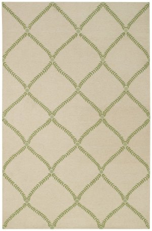 Capel Rugs Williamsburg Parable Rectangle Hand Knotted Area Rug, 5' x 8', Grass Green ()