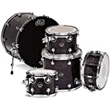 Drum Workshop Performance Series 5-Piece Shell Set in Ebony Satin Lacquer (Ebony Satin Lacquer)