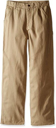 Carhartt Boys Pants (Carhartt Big Boys' Dungaree Pants, Dark Tan, 16)