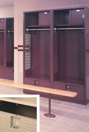 Republic Storage, Stadium Lockers - Starters, Stad241872-11-S, W X D X H: 24 X 18 X 72, Includes Footlocker: Yes, Includes Locking Top: Yes, Color: Tan, Stad241872-11-S