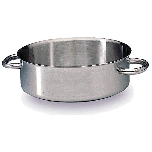 Matfer Bourgeat Excellence Braiser / Stew Pot Without Lid, 12.5'' Stainless Steel 697032 by Matfer Bourgeat