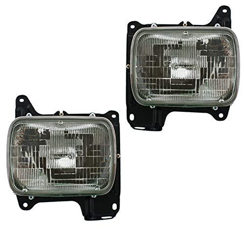 Koolzap For 86-97 D21 Pickup Truck Front Headlight Headlamp Head Light Lamp Set Pair