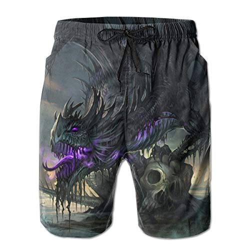 Dragon Boardshorts - NICOKEE Cool Swim Trunks for Men The Dragon of Hell Liam Summer Quick Dry Beach/Board Shorts
