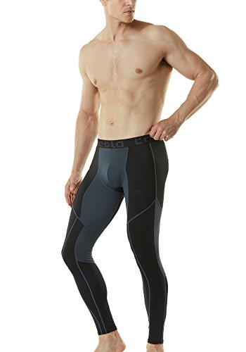 Large Product Image of Tesla Men's Mesh-Panel Compression Pants Baselayer Cool Dry Sports Tights Leggings TUP109/MUP79