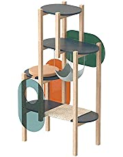 Cat Trees and Towers, Cat Climbing Frames, Cat Climbing Tree Game House Climbing Activity Center, Wear-Resistant Cat Tree with Rattan Mat, Multiple Colors to Choose from Cat Climbing Frame