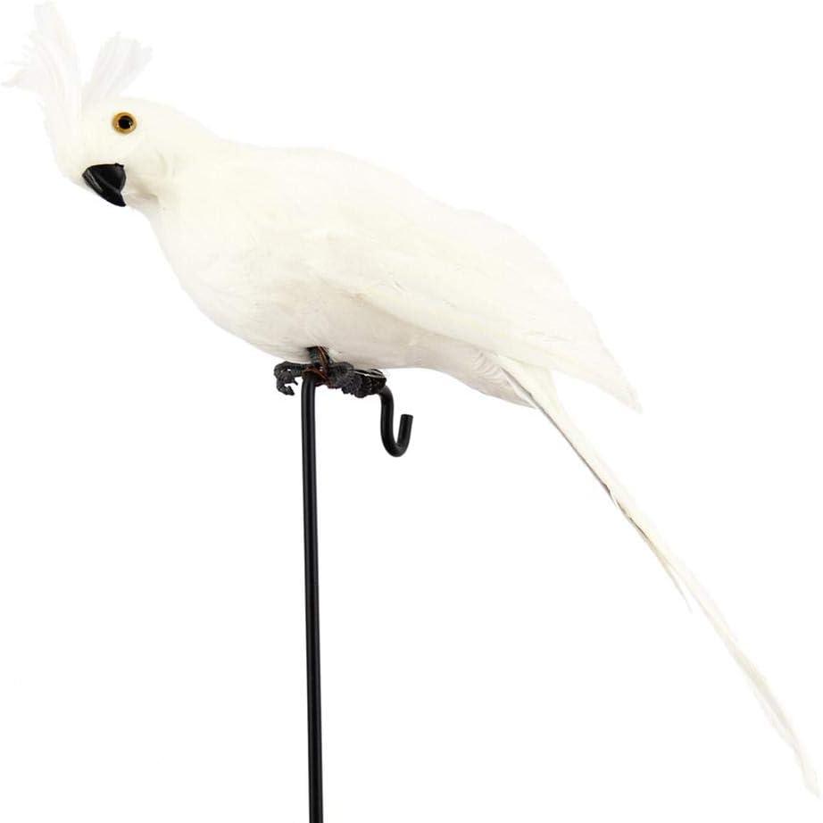 Caf/é H/ôtel Chambre G-wukeer 1 Pi/èces R/éalistes Artificiel Perroquet Oiseau Artificielle Plumes Perroquet Faux Paysag/ère Bureau Miniature D/écoration Jardin Maison Figurine pour Art D/écor-Maison