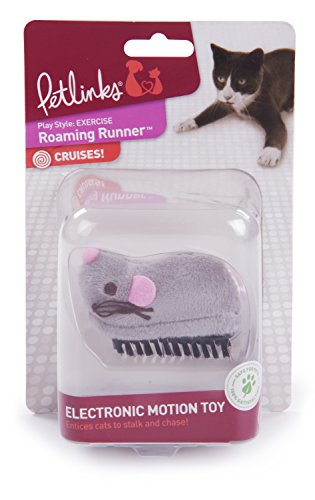 Petlinks Roaming Runner Electronic Motion Dash Mouse E-Toy for (Electronic Mouse)