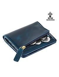 Kattee Women's RFID Blocking Card Holder Leather Short Bifold Wallet