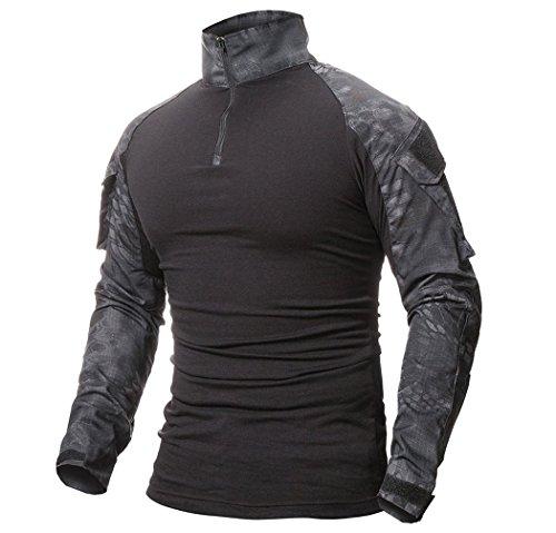 ShallGood Herren Hemden Kampf Militär Airsoft BDU Shirt Outfit Camouflage Uniform Taktische schnell trocknend mit…