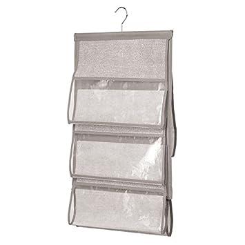 InterDesign Aldo Organizador de bolsos para armarios con aspecto de fibra natural, organizador colgante con 5 compartimentos en polipropileno, ...