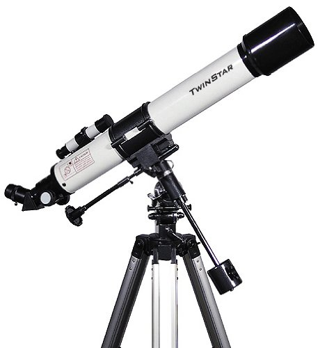 White TwinStar 70mm Refractor Telescope