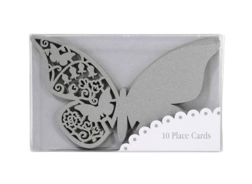 TALKING TABLES SOMETHING IN THE AIR SILVER 10-Pack Butterfly Place Cards -