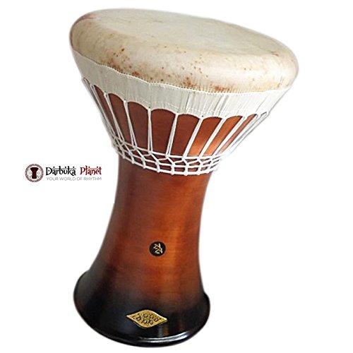 SAVVAS & ZAZA Percussion Joint Venture - ''Medium Brown'' Earth Medium Clay Darbuka with white Skin