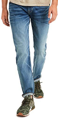 American Eagle Men's 4463909 Ne(X) t Level Flex Slim Straight Jean, Medium Tinted (34x34)