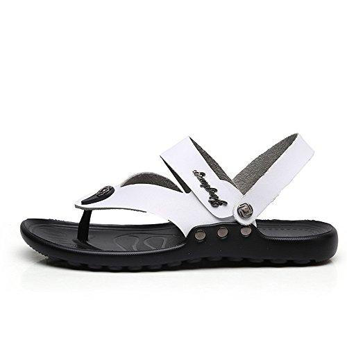 EU 45 Uomo uomo da Xujw dimensione Escursionismo Camoscio shoes Sandali antiscivolo suola per Pantofole Colore Nero White estivo ZCqCwRxa