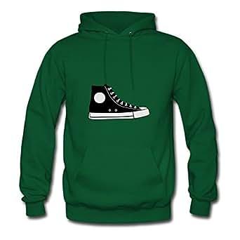 Custom-made Green Women Lovely X-large Diatinguish Black Hightop Shoe Cotton Hoody