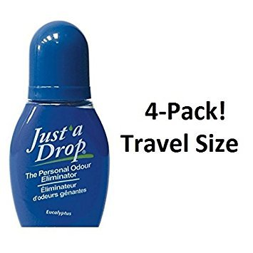 Just a Drop (R) - America's Favorite Bathroom Odor Eliminator - Travel Size 6 ml / 200+ Uses / Eucalyptus Scent - 4-Pack!