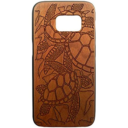 Sea Turtles, Galaxy S7, S6, S6e, S5, S4, Laser Engraved Genuine Wood Case (S6 Cherry) Sales