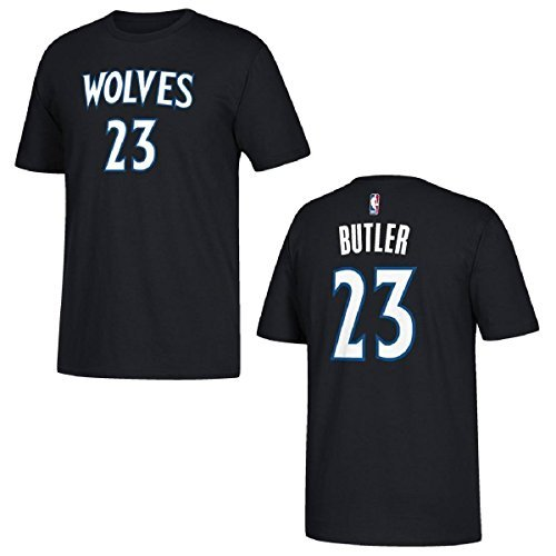 Jimmy Butler Minnesota Timberwolves #23 Blue Name and Number Youth T-Shirt (Medium 10/12) Minnesota Timberwolves T-shirt