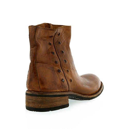 8100 Melrose Distressed Lær Piggdekk Ankel Boot Kamel