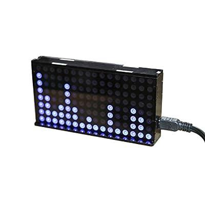 Aoshike LED Music Spectrum Display Dot Matrix VU Meter Amplifier 51 Single Chip Spectrum Analyzer Audio Level Indicator