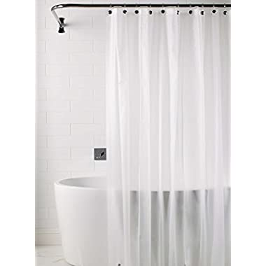 Heavy Duty Magnetized Shower Curtain Liner Mildew Resistant Clear Frosted