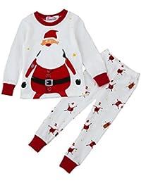 Baby Pajamas Set, Creazy Xmas Newborn Infant Baby Boy Girl Tops+Pants Christmas Home Outfits