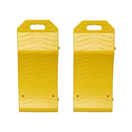 r Ramps – Vehicle Storage Ramp Set Curved Low Profile Ramps Portable Plastic Car Ramps, 2 Pk ()