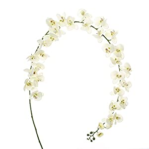 Felice Arts Artificial Flowers 6.6ft 32 Heads Butterfly Orchid Home Decor Fake Flower for Wedding Home Office Party Hotel Restaurant 2