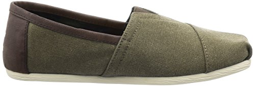 Toms Mens Classic Canvas Slip-on Olive Washed Canvas