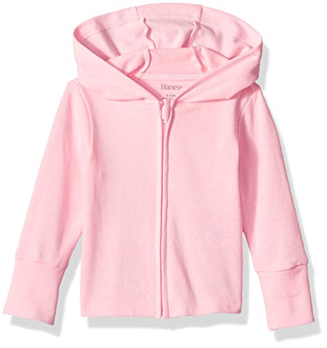 Hanes Ultimate Baby Zippin Knit Hoodie, Pink, 0-6 Months