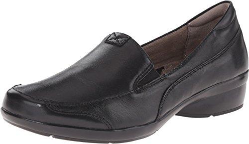 Loafers Naturalizer Heels (Naturalizer Women's Channing Slip-On Loafer, Black, 6 M US)